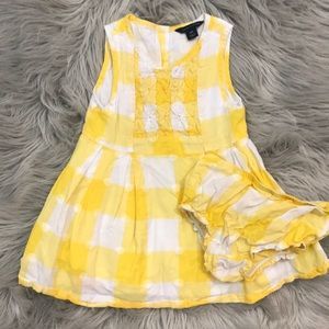 Tommy Hilfiger Cotton Pintucked Dress with bloomer